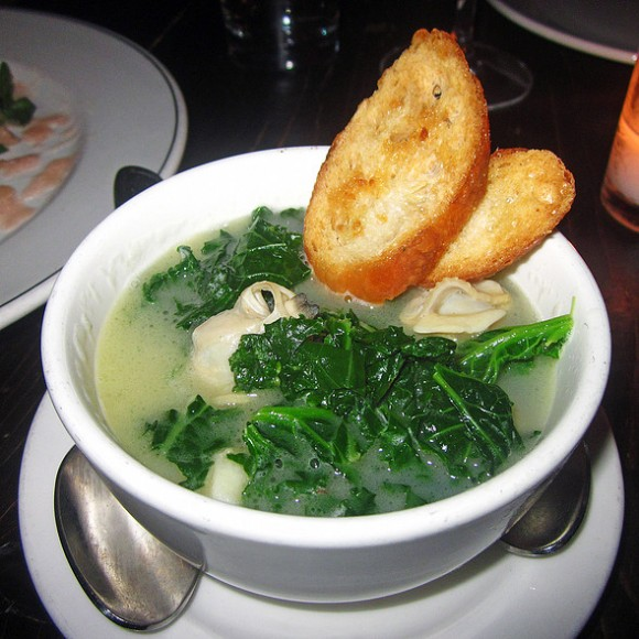 butter clams, gnocchi, sautéed kale, parsley-lemon bouillon. courtesy of foodspotting.com.