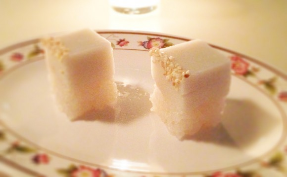 coconut rice dessert - not spicy!