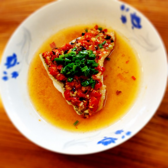 steamed fish with minced chili