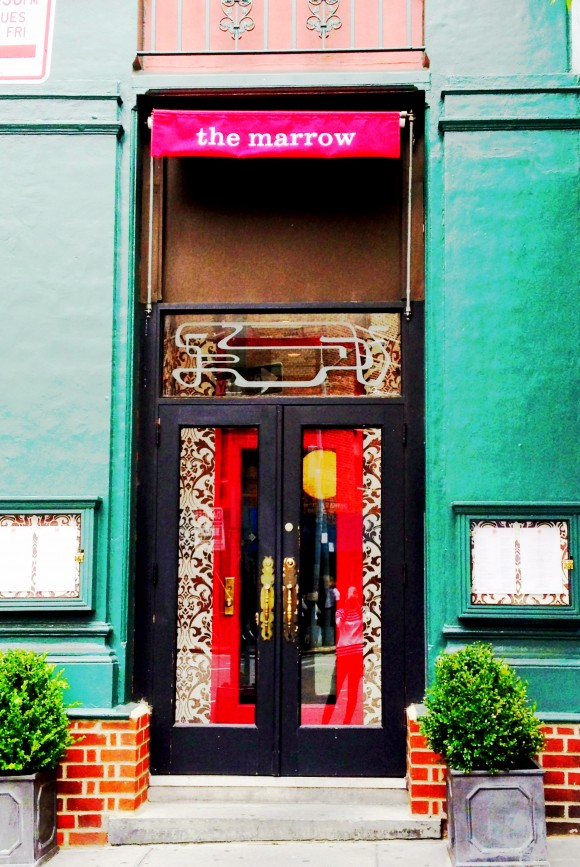 The entrance to The Marrow - so West Village!