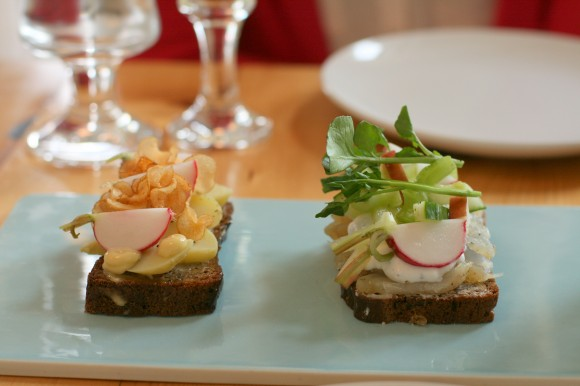 aamans copenhagen - smørrebrød with potatoes and white fish
