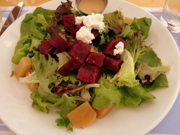 Highway Diner - roasted beet and goat cheese salad