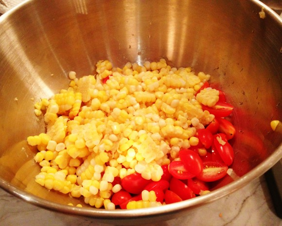MSK Farm - corn and tomatoes for pasta