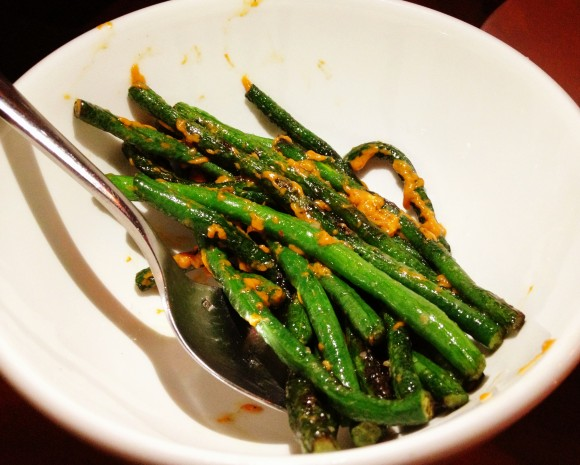 pearl ash - long beans, chili uni