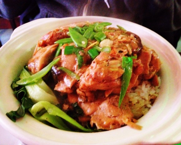 v-nam - clay pot ginger chicken rice