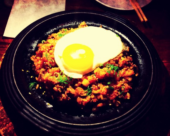 hanjan - kimchi and beef brisket fried rice