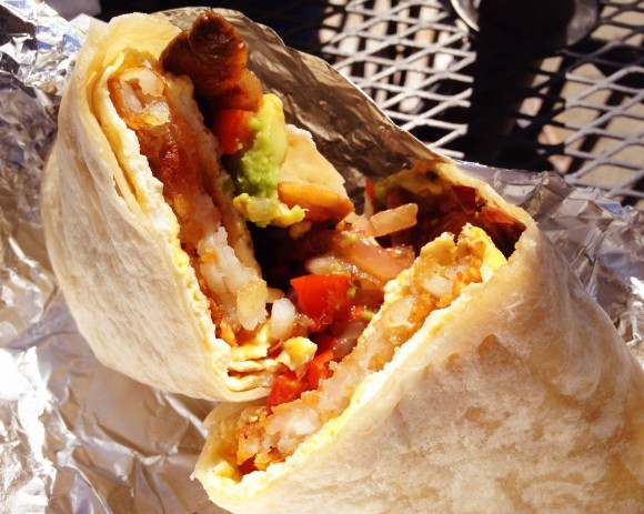andies - veggie breakfast burrito