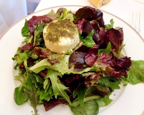 bouchon - goat cheese salad