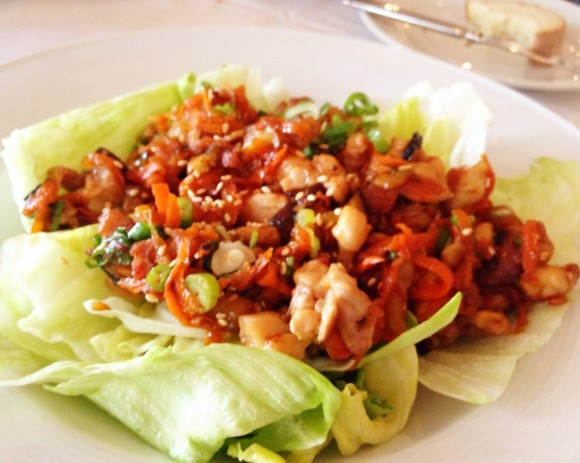 redd - lettuce cups and stir fried chicken
