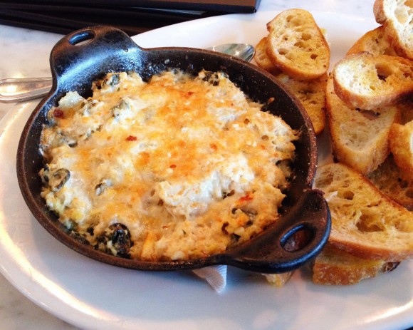 the pear - crab artichoke dip