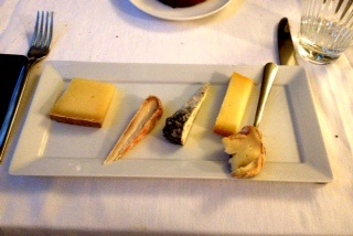 a very strong cheese platter