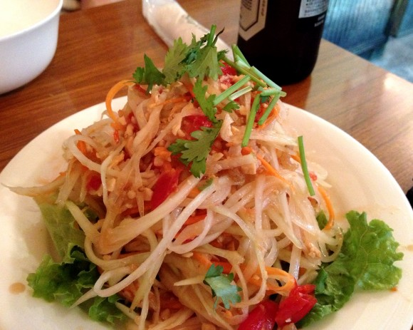 chao bamboo - papaya salad