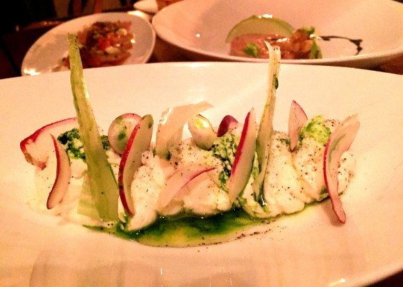 wallflower - chevre with frean breakfast radishes and basil