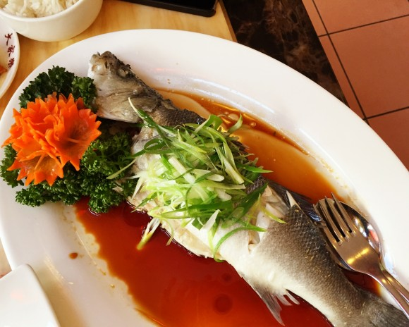 da jie le - steamed sea bass