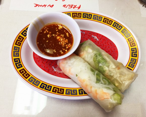 vietnam kitchen - shrimp spring roll