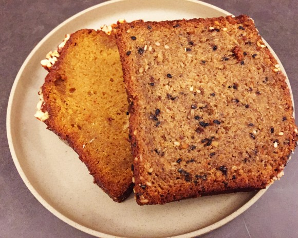 sesame banana bread and sweet potato bread