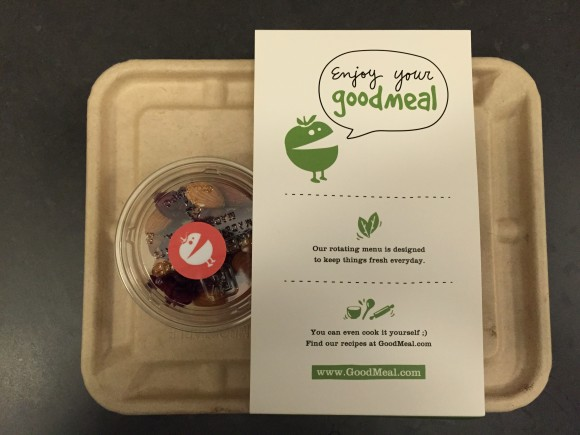 goodmeal's 100% recyclable packaging