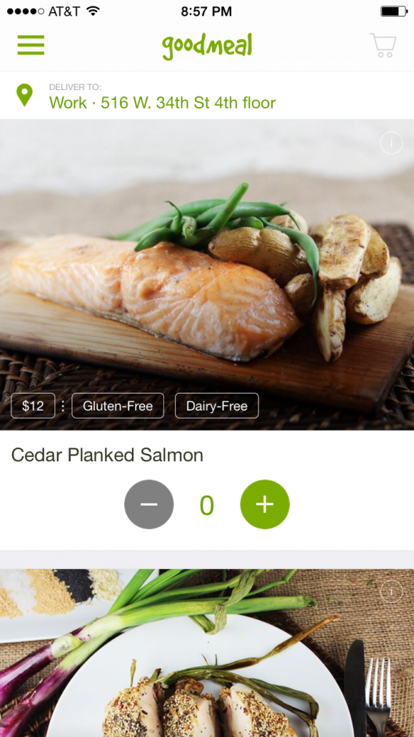goodmeal's cedar planked salmon