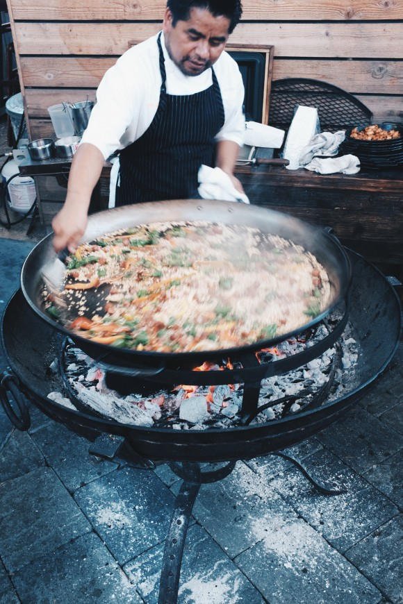 the massive paella pan