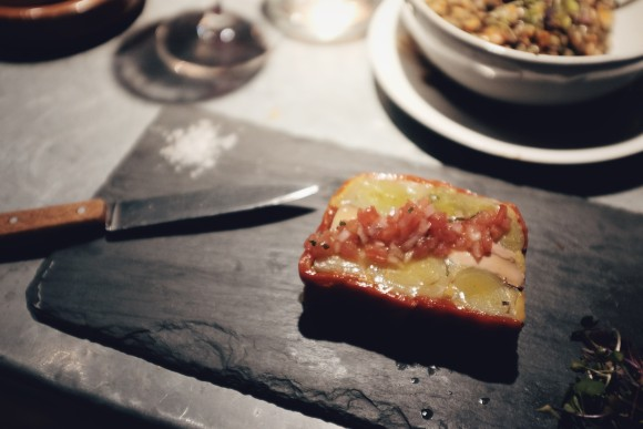 leeks and foie gras terrine