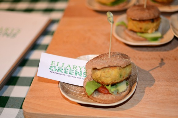 ellary's greens' chickpea burger