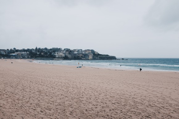 walking along bondi beach