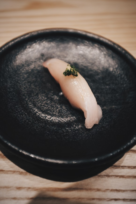 spanish mackerel from long island with ponzu sauce