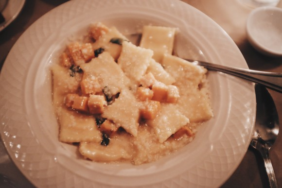 the agnolotti with sweet potato, brown butter and sage