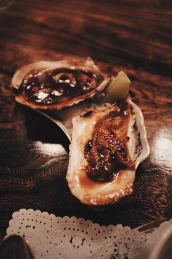 oysters with bbq sauce