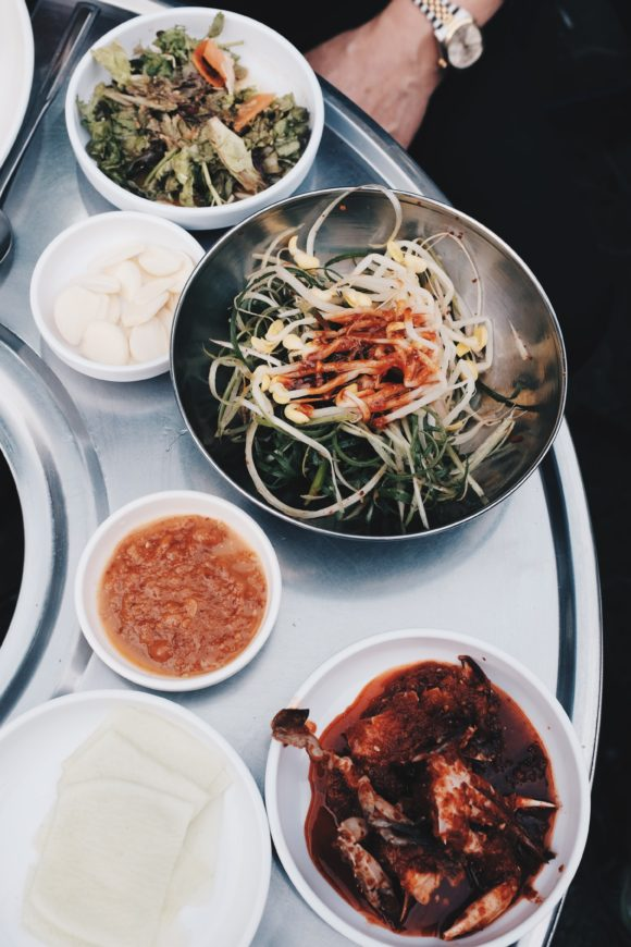 the side dishes for our kalbi dinner