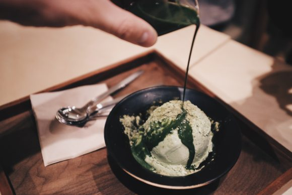 the green tea ice cream at o'sulloc