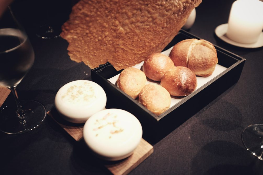 bread four ways with lardo and butter