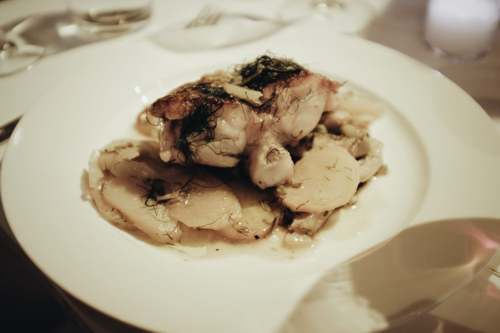 monkfish with dill and potatoes